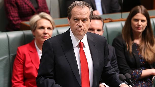 زعيم المعارضة بيل شورتن اثناء إلقاء خطاب الرد على الموازنة. الصورة: غاري راماج.المصدر: نيوز كورب استراليا