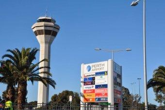 perth airport. Image- AAP