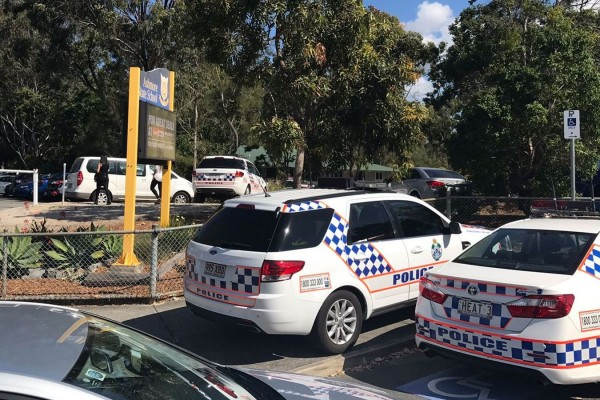 Ashmore State School has been locked down following bomb threats. (Nine News